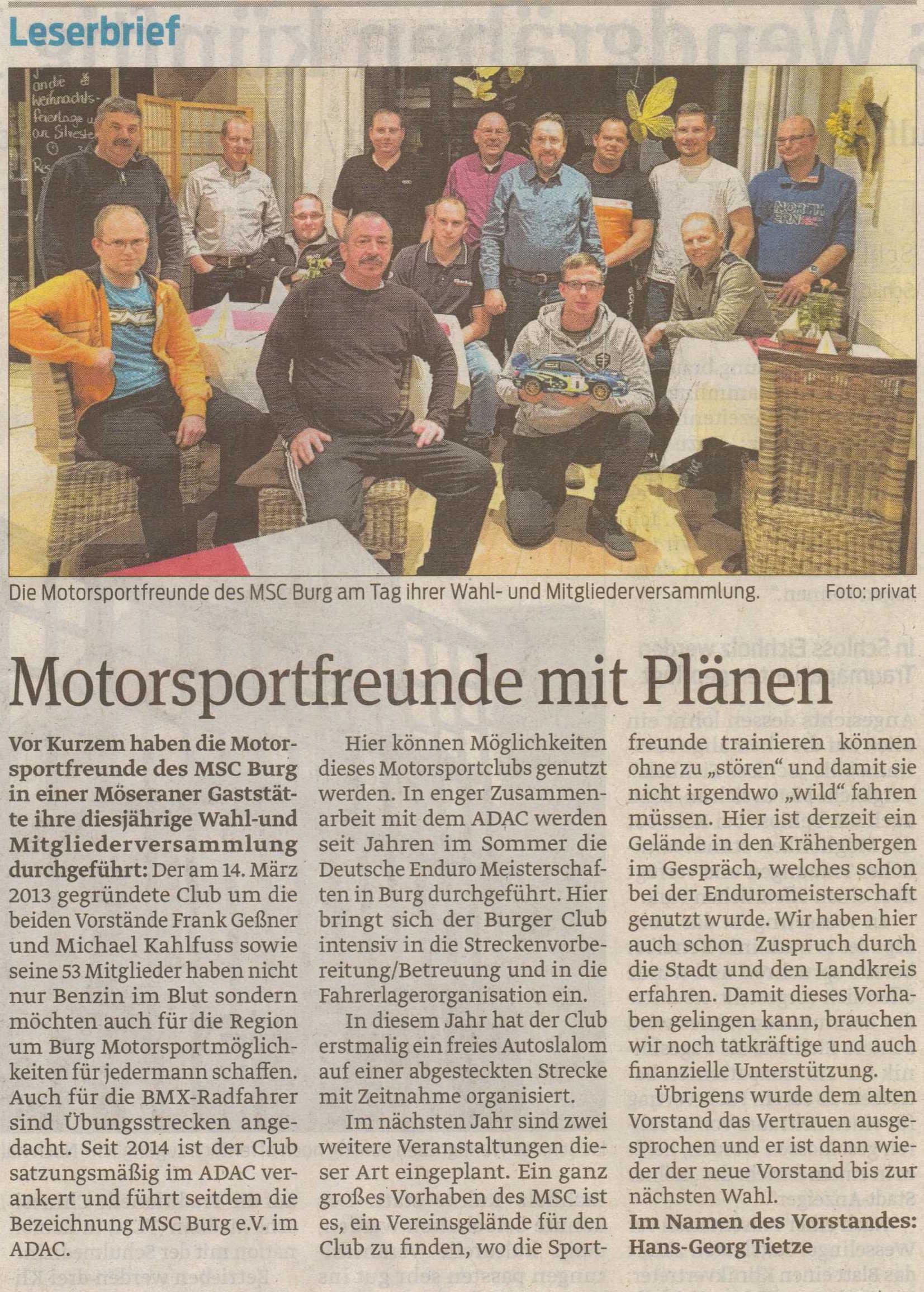 MSC Burg Volksstimme 21.11.15