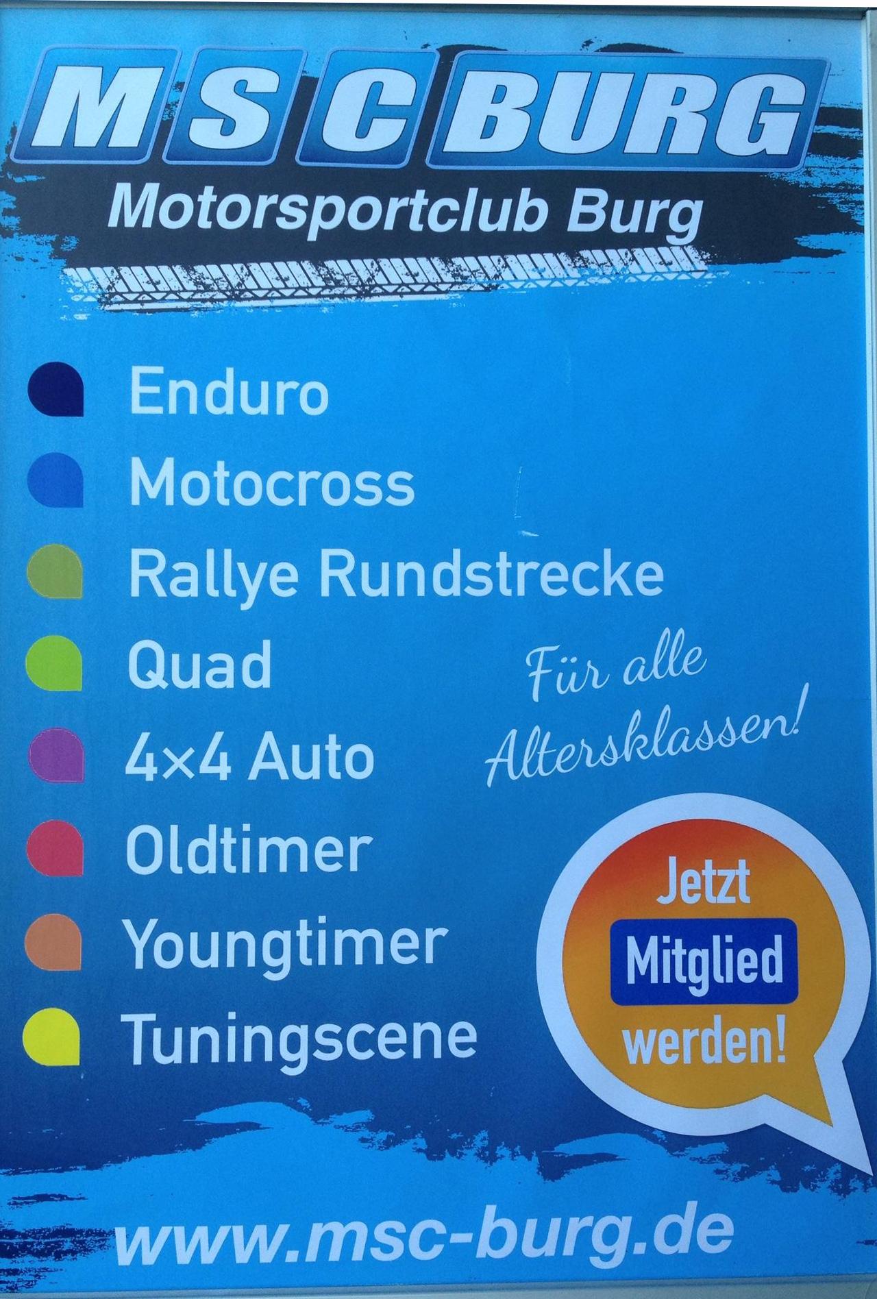 Plakat MSC Burg
